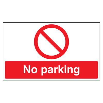 No Parking - 300 x 500mm - Rigid Plastic)