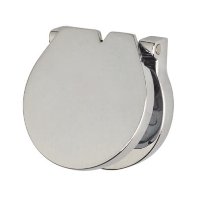Budget Lock Escutcheon and Sprung Cover - 27mm - Polished Chrome)