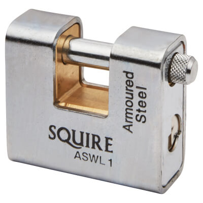 Squire Armoured Steel Shutter Lock - 60mm