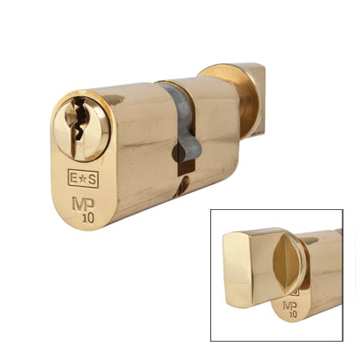 Eurospec MP10 - Oval Cylinder and Turn - 35[k] + 35mm - Polished Brass  - Keyed to Differ