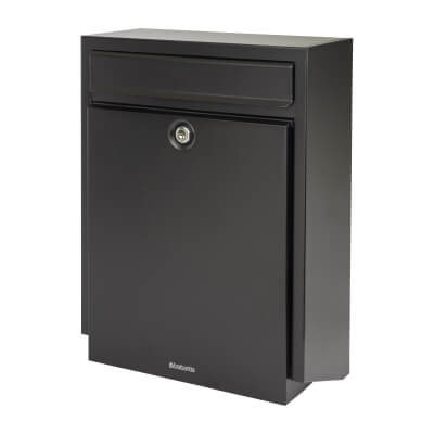 DAD B100 Mailbox - 460 x 340 x 160mm - Black)