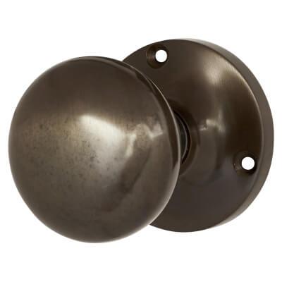 Jedo Mushroom Mortice Door Knob - Dark Bronze)