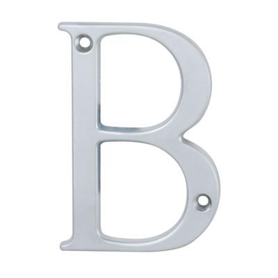 76mm Letter - B - Satin Chrome