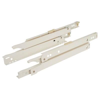 Blum Standard Euro Drawer Runner - Full Extension - 30kg - 350mm - Cream