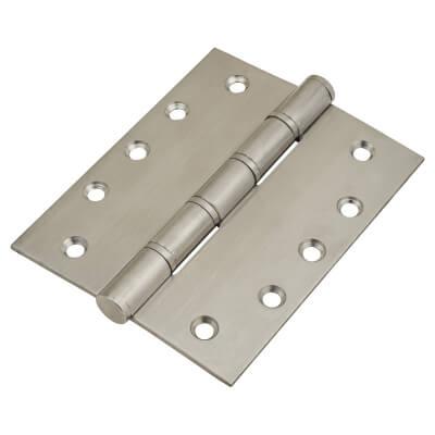 Washered Hinge - 127 x 102 x 3mm - Satin Stainless Steel - Pair