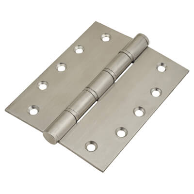 Washered Hinge - 127 x 102 x 3mm - Satin Stainless Steel