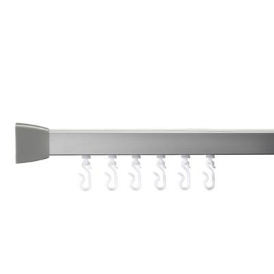 Croydex Shower Rail - Straight - Professional Profile 800 - 1830mm - Silver)