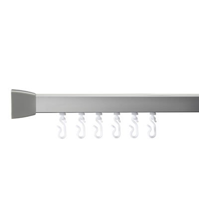 Croydex Shower Rail - Straight - Professional Profile 800 - 1830mm - Silver)