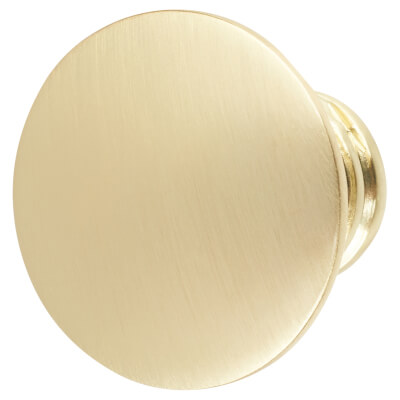 Touchpoint Jest Cabinet Knob - 29mm - Polished Brass