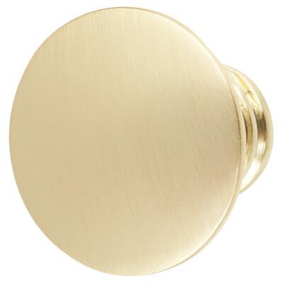 Touchpoint Jest Cabinet Knob - 29mm - Polished Brass
