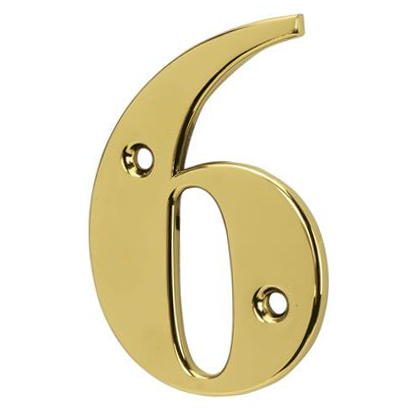 76mm Numeral - 6/9 - Gold