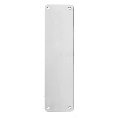 Altro Plain Finger Plate - 375 x 75 x 1.5mm - Polished Stainless