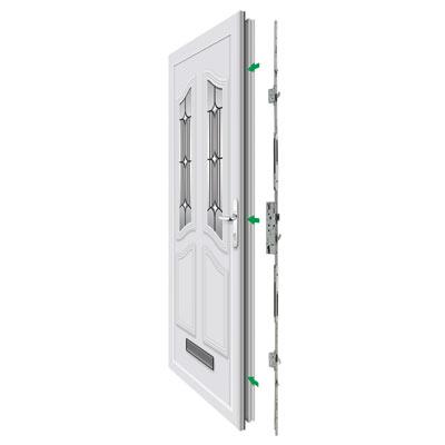Yale Doormaster™ Adjustable Replacement Multipoint Lock - 35mm Backset)