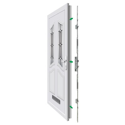 Yale Doormaster™ Adjustable Replacement Multipoint Lock - 35mm Backset)