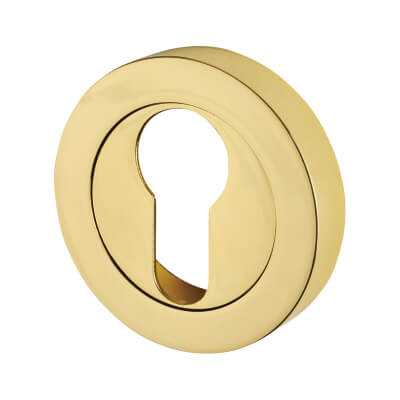 Touchpoint Escutcheon - Euro - Polished Brass