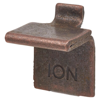 ION Heavy Duty Flat Bookcase Clip - Bronze Plated - Pack 10