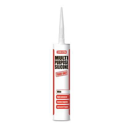 Evo-Stik General Purpose Silicone Sealant - 290ml - White)