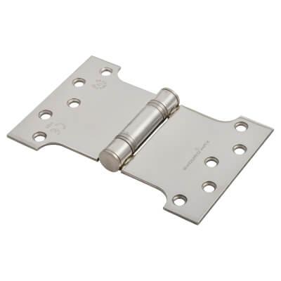 Enduro Max Parliament Hinge - 102 x 100 x 152 x 3.5mm - Polished Stainless Steel)