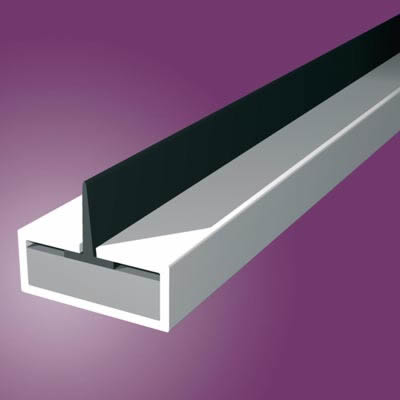 Pyroplex Single Centre Flipper Intumescent Strip - 10 x 4 x 2100mm - White - Pack 10)