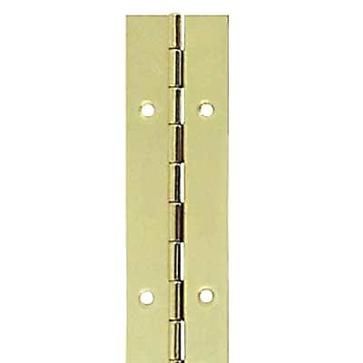 Steel Piano Hinge - 1800 x 25 x 0.7mm - Brass Plated