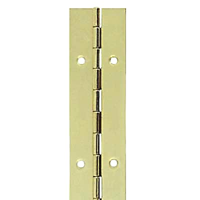 Steel Piano Hinge - 1800 x 25 x 0.7mm - Brass Plated