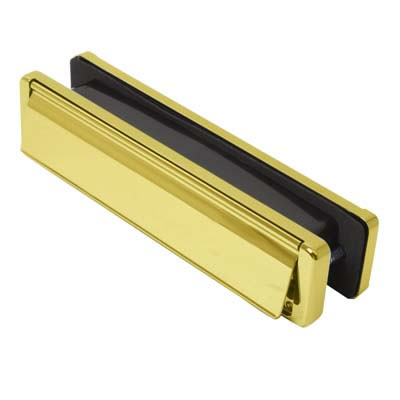 Fab & Fix - uPVC/Timber - Nu-Mail Letter Plate - 20-40mm Door - Hardex Gold