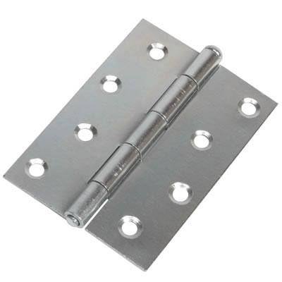 Loose Pin Steel Hinge - 100 x 67mm - Zinc Plated