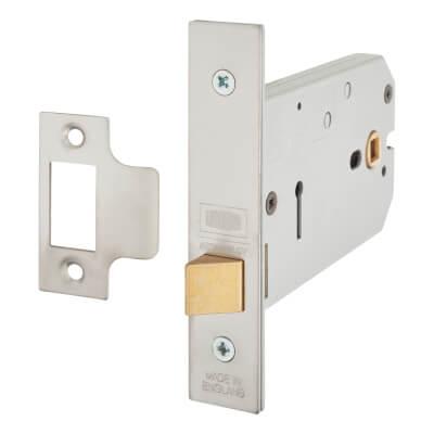 UNION® 26773 Horizontal Latch - 124mm Case - 38-101.5mm Backset - Satin Chrome