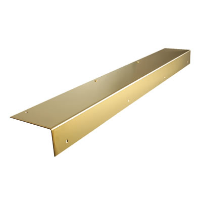 Altro Angle Door Step - 750mm - Polished Brass