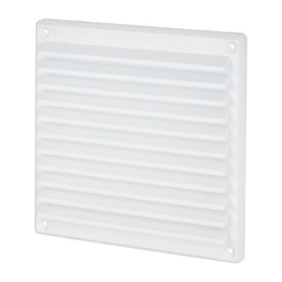 Louvre Vent - 166 x 160mm - 10360mm2 Free Air Flow - White Plastic