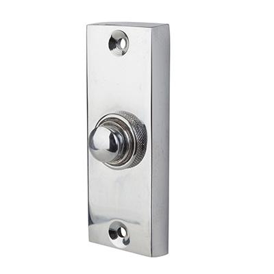 Morello Plain Edge Bell Push - 80 x 30mm - Polished Chrome)