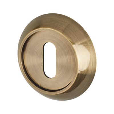 Elan Escutcheon - Keyhole - Antique Brass