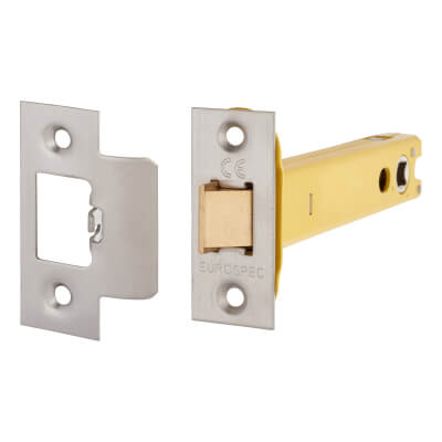 Altro Heavy Duty Tubular Latch - 128mm Case - 107mm Backset - Satin Stainless)
