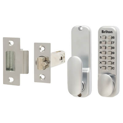 Briton 9160 Mechanical Code Lock - Satin Chrome)