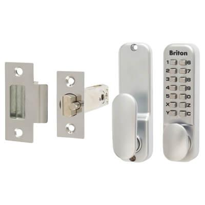 Briton 9160 Mechanical Code Lock - Satin Chrome