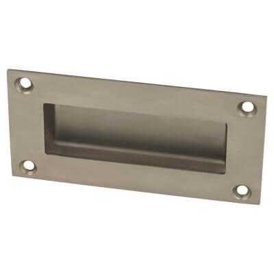 Altro Rectangular Flush Handle - 51 x 102mm - Satin Stainless Steel)