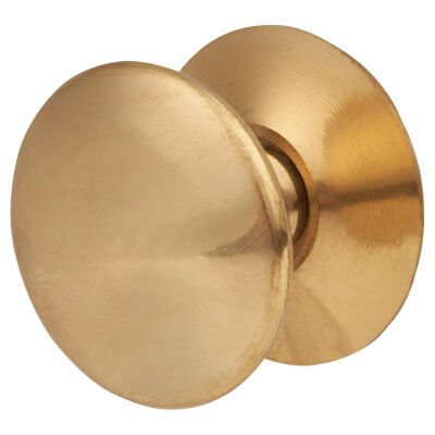 Touchpoint Budget Victorian Cabinet Knob - 25mm - Polished Brass