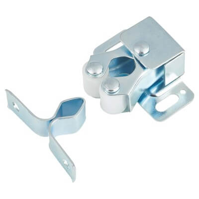 Double Roller Catch - 25mm - Nickel Plated)