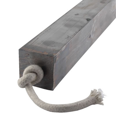 Lead Square Sash Weight - 13.07kg - 44 x 44 x 600mm)