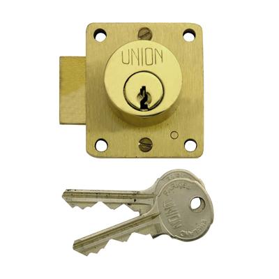 UNION® 4110 Cylinder Cupboard Lock - Brass