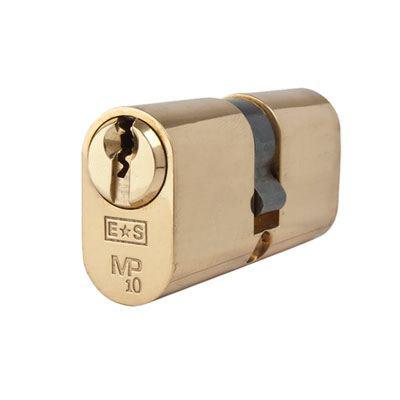 Eurospec MP10 - Oval Double Cylinder - 32 + 32mm - Polished Brass  - Keyed Alike