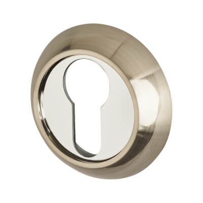 Elan Escutcheon - Euro - Satin Nickel/Polished Chrome