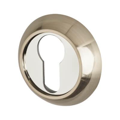 Elan Escutcheon - Euro - Satin Nickel/Polished Chrome