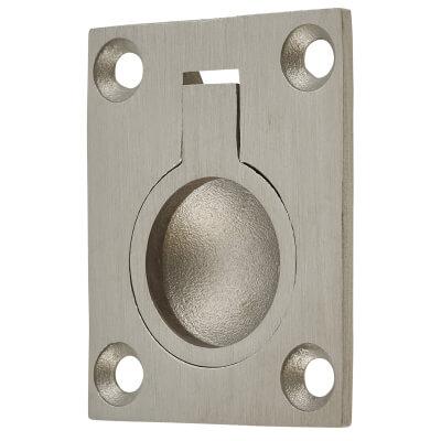 Altro Flush Ring - 48 x 38mm - Satin Stainless Steel