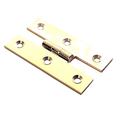 H Hinge - 63 x 35mm - Polished Brass
