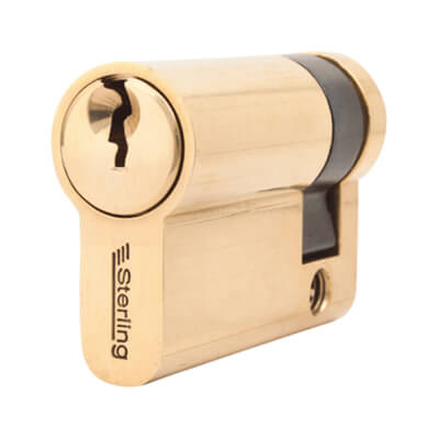 5 Pin Cylinder - Euro Single - 46mm - Brass