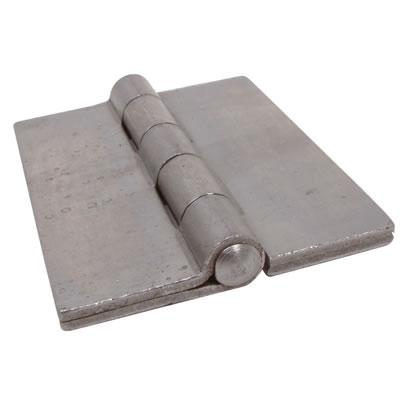 Double Pressed Steel Hinge - 100 x 73 x 4mm - Self Colour Steel