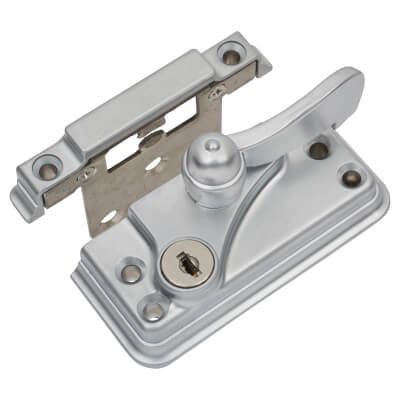 Fab & Fix High Security Heritage Fitch Fastener Cam Lock and Small Keep - Satin Chrome