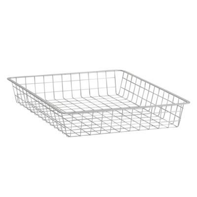 elfa® Shallow Storage Basket - 527 x 427 x 85mm - Platinum