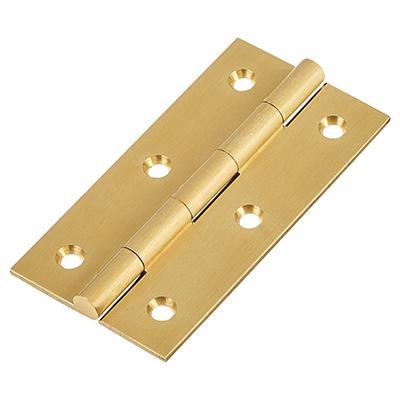 Solid Drawn Hinge - 75 x 40 x 2.0mm - Satin Brass